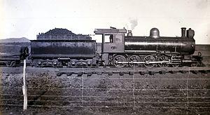 South African Class 8A 4-8-0 - Image: Class 8A CSAR 413 SAR 1104