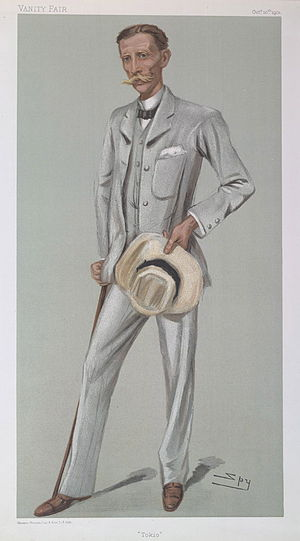 Claude Maxwell MacDonald - MacDonald caricatured by Spy for Vanity Fair, 1901