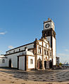 Clock tower of Cathedral at Ponta Delgada.jpg