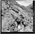 Closeup of stone wall just east of failure area, looking north - Going-to-the-Sun Road, West Glacier, Flathead County, MT HAER MONT,15-WEGLA,5-74.tif