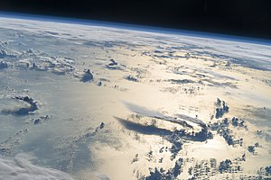 Philippine Sea - An image captured from the ISS while flying over the Philippine Sea.
