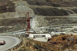 Clyde Dam - Clyde Dam under construction circa 1986