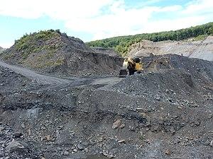 Cass Township, Schuylkill County, Pennsylvania - Image: Coal Mining near Heckscherville, Cass Twp, Schuylkill Co PA 01