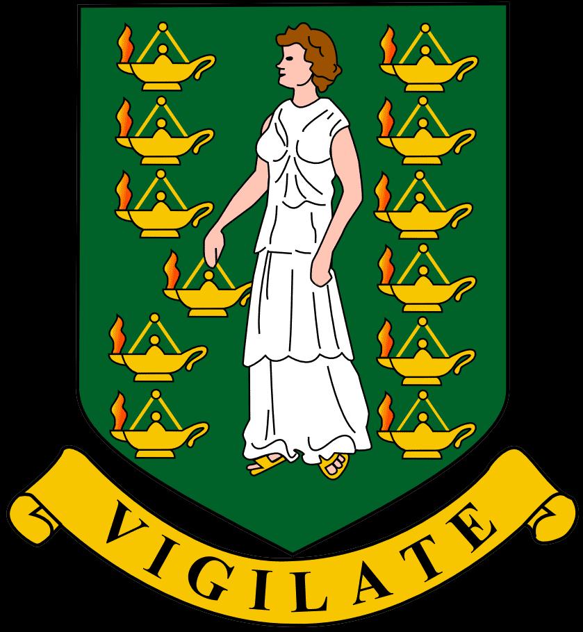 Escudo das Illas Virxes Británicas