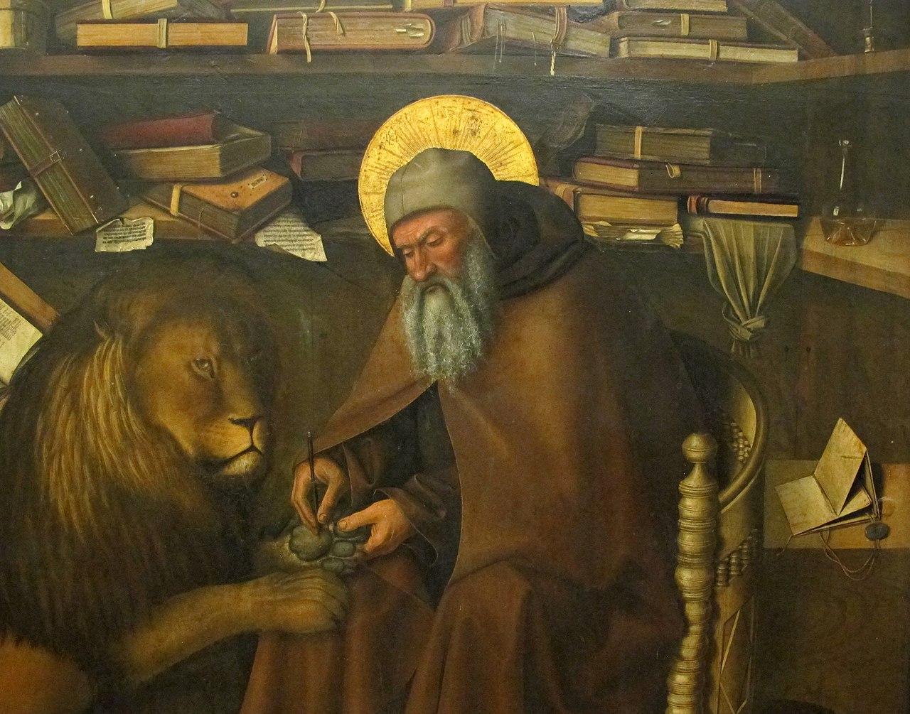 File:Colantonio, San Girolamo nello studio, 1444, 03.JPG ...