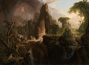 Expulsion from the Garden of Eden (Cole) - Image: Cole Thomas Expulsion from the Garden of Eden 1828