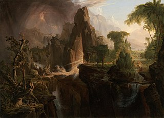 <i>Expulsion from the Garden of Eden</i> (Cole) painting by Thomas Cole