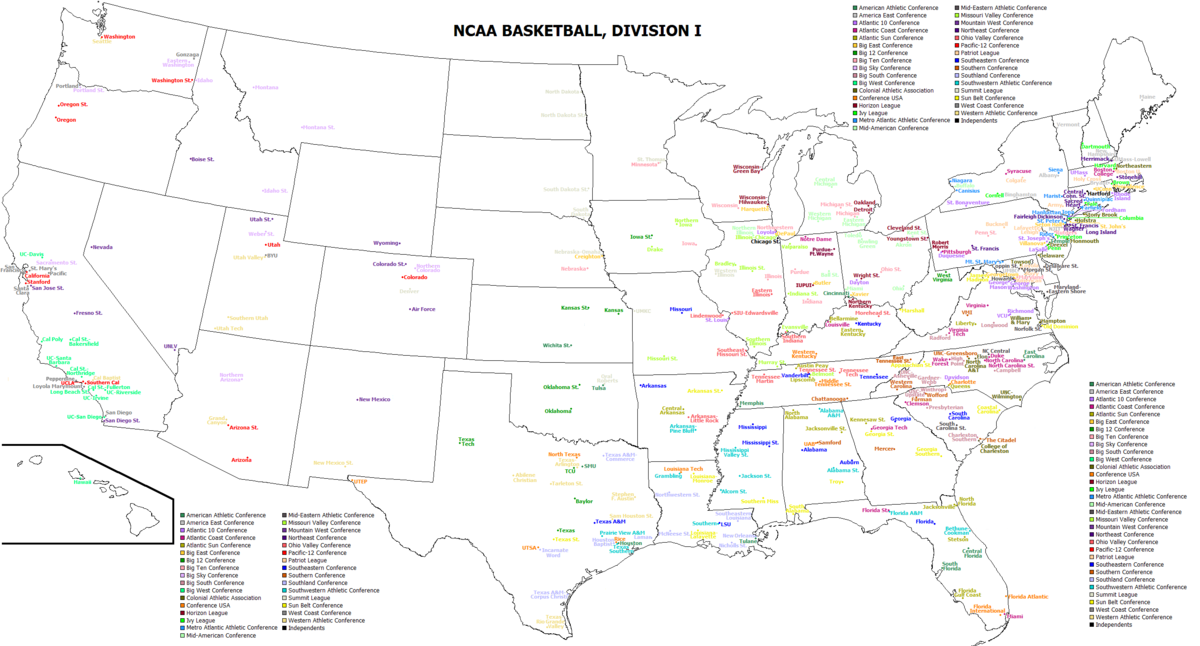 List of NCAA Division I men's basketball programs - Wikipedia