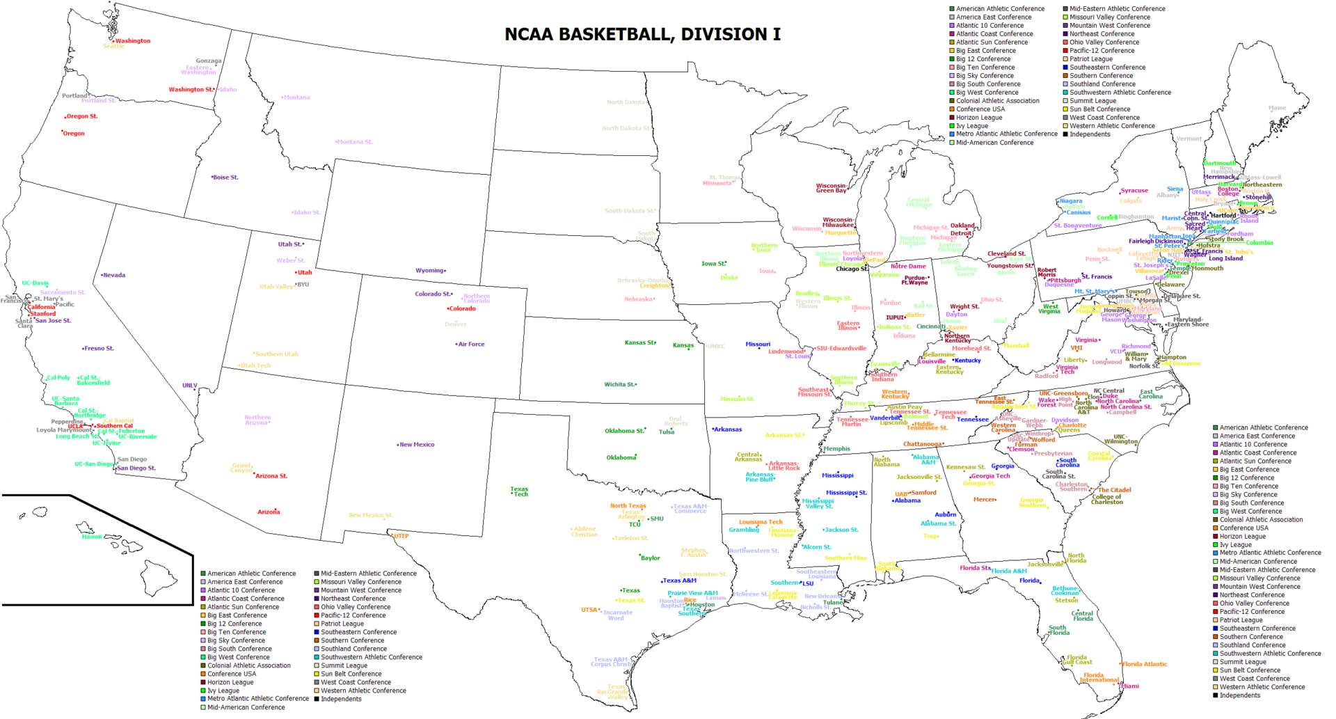 List Of Ncaa Conferences Wikipedia 2018 2019 2020 Ford