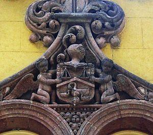 El Parián (shopping arcade) - Detail of El Parián'´s facade