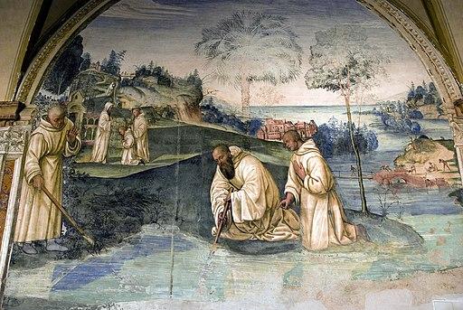 Il Sodoma, Come benedetto fa tornare nel manico uno roncone che era caduto nel fondo di un lago