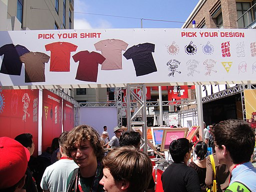 Comic-Con 2010 - the Scott Pilgrim vs Comic-Con Experience custom screenprinted t-shirt menu (4875047936)