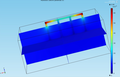 Comsol simulation of grounding rods in physical simulator Comsol.png