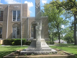 Ouachita County, Arkansas - Image: Confederate Women's Monument in Camden, AR IMG 2244