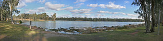 Murray River - The confluence of the Darling and Murray Rivers at Wentworth, New South Wales