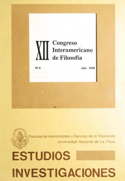 File:Congreso Interamericano de Filosofía (XII, 1989, Buenos Aires).djvu