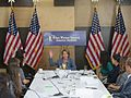 Congresswoman Pelosi participates in a women's economic roundtable with Square employees and merchants in SoMA (9938721426).jpg