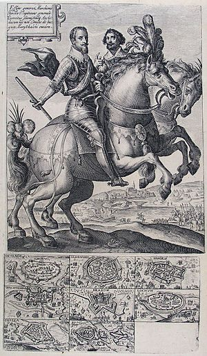 Ambrogio Spinola, 1st Marquis of the Balbases - Image: Conquests of Ambrosio Spinola (Crispijn van der Passe I)