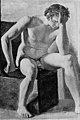 Constantin Hansen - Siddende mandlig model - KMS3880b - Statens Museum for Kunst.jpg