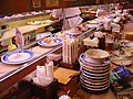 Conveyor belt sushi by EverJean in Kyoto.jpg