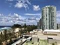 Coolangatta beach, Queensland seen from holiday appartament towers facing the beach 02.jpg