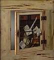 Cornelius Norbertus Gijsbrechts - Trompe l'Oeil. A Cabinet of Curiosities with an Ivory Tankard - KMS3076 - Statens Museum for Kunst.jpg