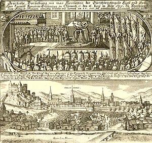 St Martin's Cathedral, Bratislava - Coronation of Emperor Leopold I at St. Martin's Cathedral, 1655