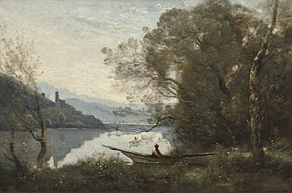The Moored Boatman: Souvenir of an Italian Lake