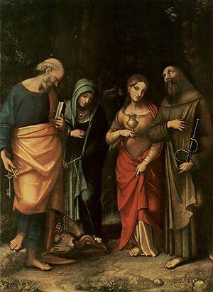 Saints Peter, Martha, Mary Magdalen and Leonard - Four Saints