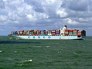 Cosco Seattle p6, leaving Port of Rotterdam, Holland 29-Jul-2007.jpg