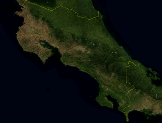 Outline of Costa Rica - An enlargeable satellite image of Costa Rica