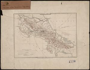 Santa Bárbara (canton) - Santa Bárbara on an 1890 map of Costa Rica