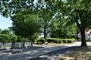 Eichenplatz mit anliegenden Grundstücken und deren historischer Bebauung; Platzbildung zwischen Eichenstraße und Ulmenstraße mit Straßen- und Wegeführung sowie Baumbestand