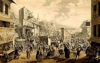 Samuel Hieronymus Grimm - Country Fair in France 1765