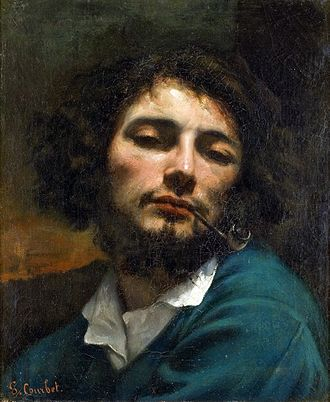 Gustave Courbet - L'homme à la pipe (Self-portrait, Man with a pipe), 1848–49, Musée Fabre, Montpellier