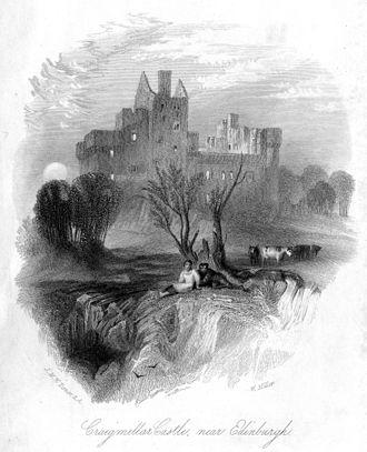 Craigmillar Castle - Craigmillar Castle, 1836 engraving by William Miller after J M W Turner