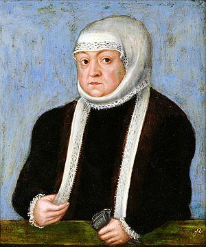 Bona Sforza - Queen Mother Bona by Lucas Cranach the Younger