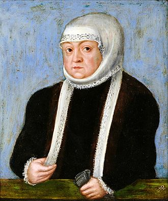 Bona Sforza - Queen Mother Bona by Lucas Cranach the Younger