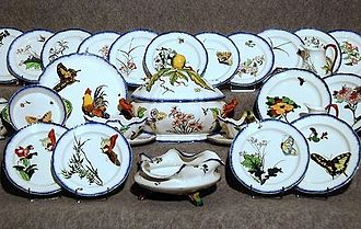 Félix Bracquemond - Bracquemond's decor for the Service Rousseau in Creil-Montereau faience, introduced c1867, for the editor François-Eugène Rousseau, is credited with the first expression of japonisme in France.