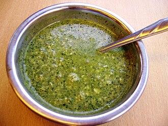 Ají (sauce) - Image: Crema de aji (Asapampa, Junin)