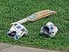 Cricket kit at Walker Cricket Ground, Southgate, London, England 01.jpg