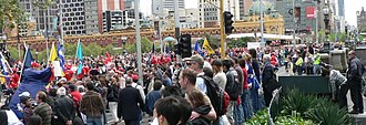2006 AFL Grand Final - Some of people who lined the streets of Melbourne for the 2006 AFL Grand Final parade