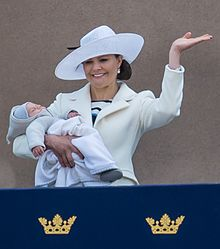 Crown Princess Victoria with Prince Oscar 2016.jpg