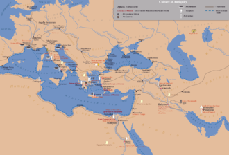 Greco-Roman world - A map of the ancient world, centred on Greece.