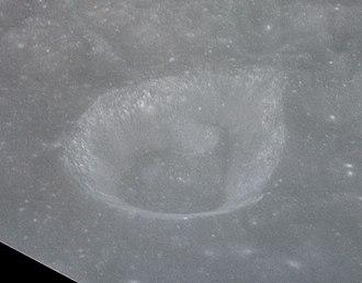 Cyrillus (crater) - Image: Cyrillus A crater AS14 73 10053