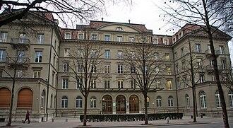 Federal Department of Finance - The Bernerhof, headquarters of the Federal Department of Finance (2005).