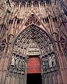 Détail de la façade de la cathédrale de Strasbourg.JPG