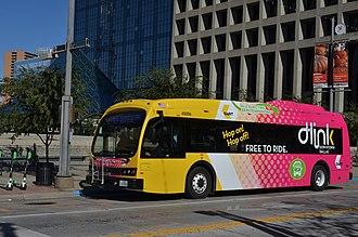Proterra, Inc. - Proterra electric bus in downtown Dallas, TX