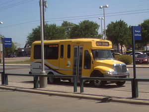 Downtown Irving/Heritage Crossing station - Image: DART On Call & Flex Shuttle