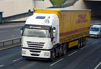Iveco Stralis - An Iveco Stralis lorry in the UK